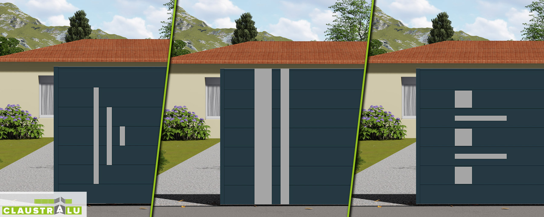 portail design coulissant aluminium prix direct usine. Black Bedroom Furniture Sets. Home Design Ideas