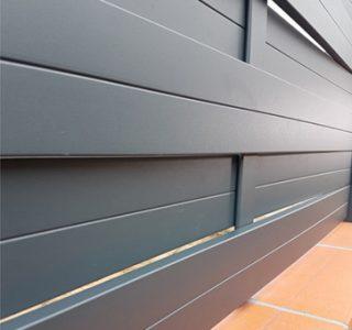 claustra en aluminium style tressé