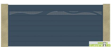 Portail en alu coulissant design Modèle Wave