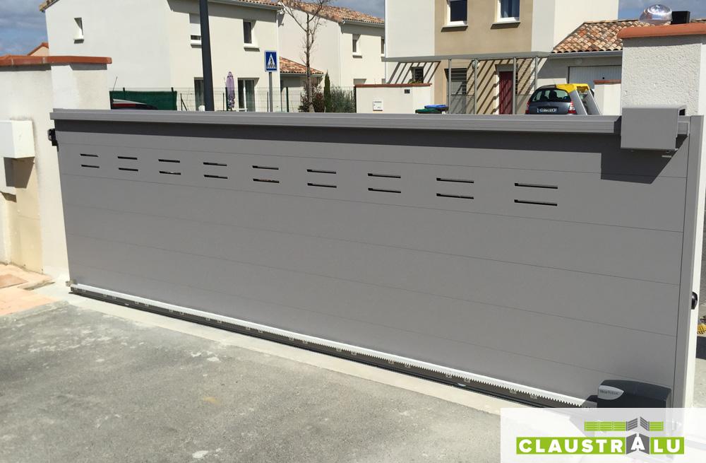 portails automatiques coulissants aluminium collection design arrow. Black Bedroom Furniture Sets. Home Design Ideas