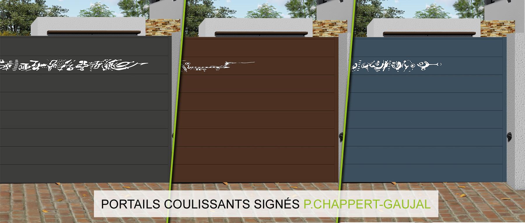 Portail design coulissant aluminium prix direct usine for Prix d un portail coulissant