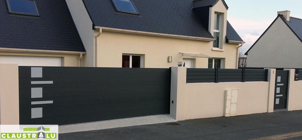 portail portillon moderne assortis fabricant de cl ture pare vue portail aluminium. Black Bedroom Furniture Sets. Home Design Ideas