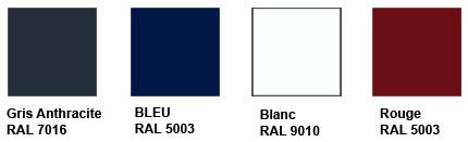 couleur standard pour portail en alu à vos dimensions