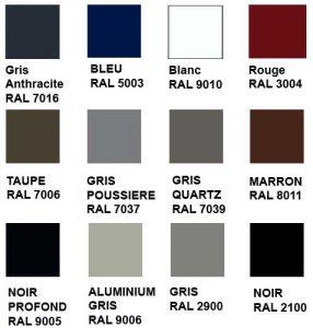 autres couleurs possible pour portail en aluminium standard ou sur mesure