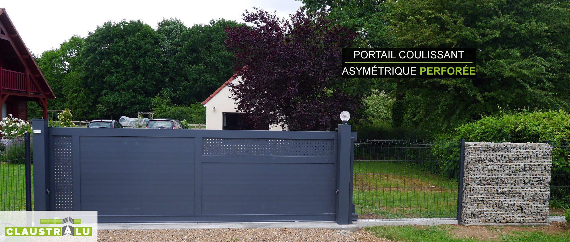 Portail de maison en aluminium coulissant