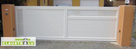 Portial Coulissant en Aluminium Asymétrique Blanc RAL 9010