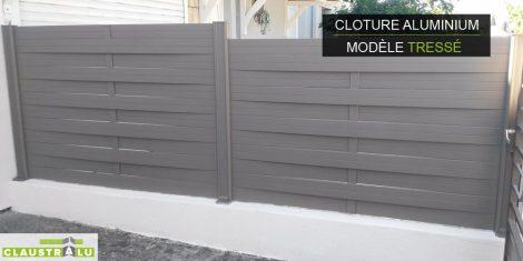 Claustra aluminium tressé design taupe RAL 7006