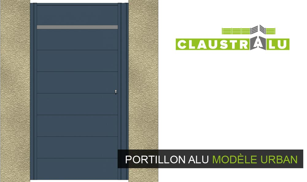 portillon urban en aluminium design