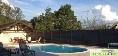 lames aluminium pour clôture cache piscine