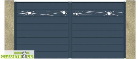 Portail à 2 Battants Design Modèle Glass