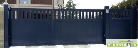 Portail Coulissant 1/3 ajouré en aluminium