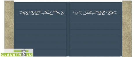 Portail Double Battant Design Modèle Tribal