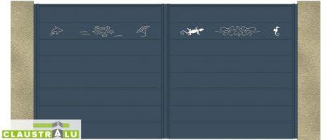 Portail à 2 Battants Design Modèle Sea