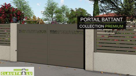 Collection haute de gamme de portail battant en aluminium