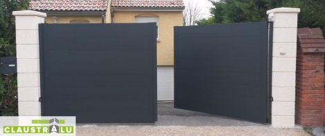 portail battant aluminium 2 vantaux