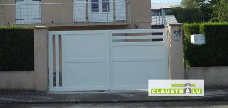 Portail Blanc en Aluminium