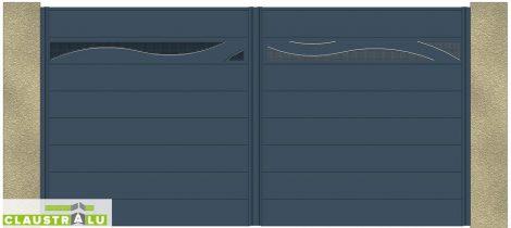 Portail 2 Vantaux Design Modèle Wave