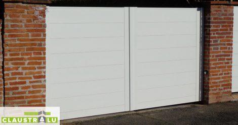 Portail plein Design Blanc RAL 9006