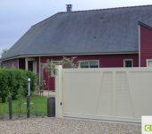 portail de clôture design alu