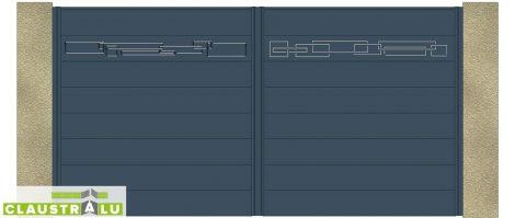 Portail Battant Design Modèle Mixed