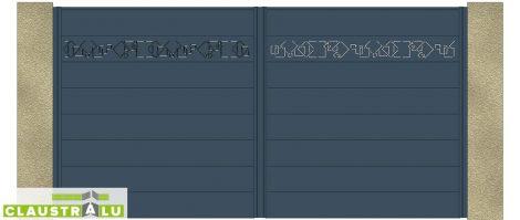 Portail Double Battant Design Modèle Square