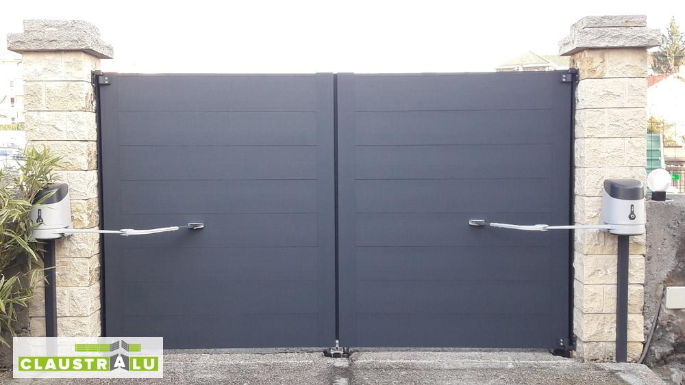 Portail Et Motorisation Nice Pour 2 Battant Aluminium Fabricant De