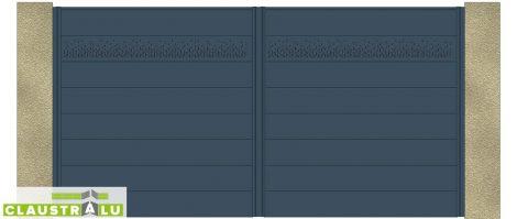Portail 2 Vantaux Design Modèle Cloven