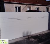 Portail coulissant blanc (RAL9010)