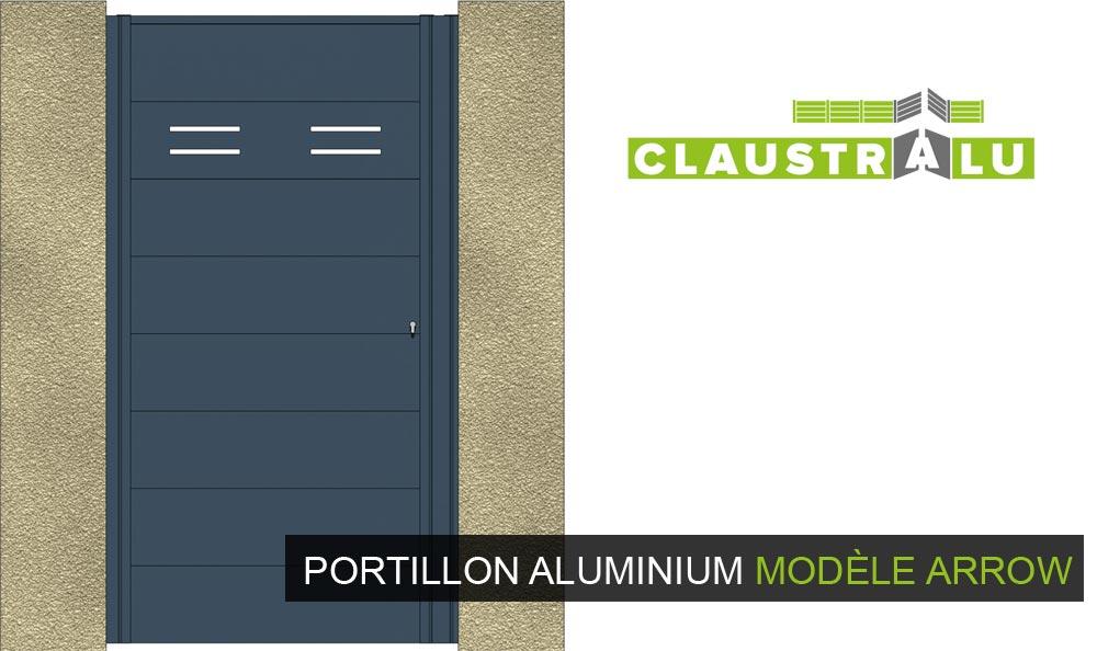 Portillon en Aluminium Contemporain et Design - Claustralu