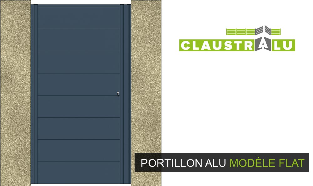 portillon design aluminium plein