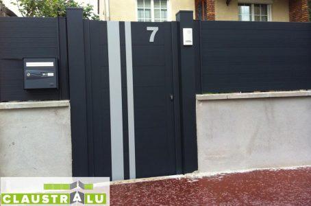 portillon et clôture assortis