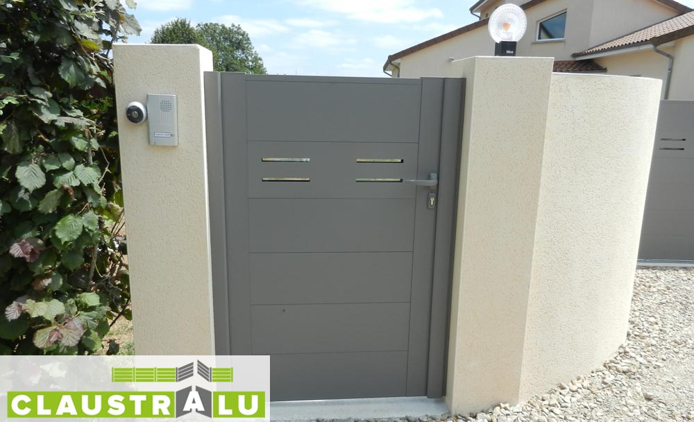 Portillon de jardin gamme alu design mod le arrow - Portillon jardin ...
