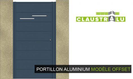 portillon aluminium modèle offset