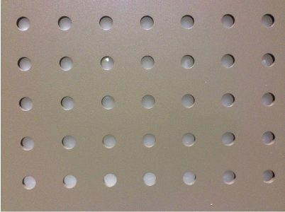 Tôle aluminium perforée
