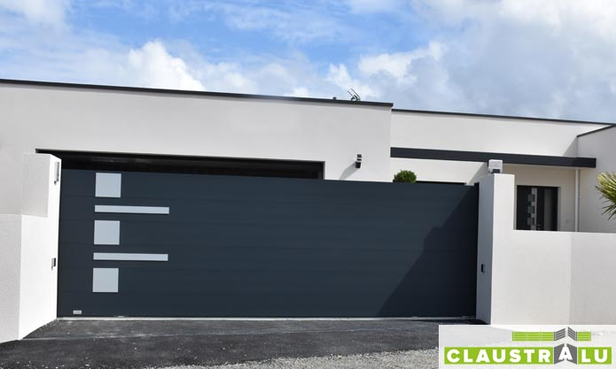 portail design pour maison d'architecte