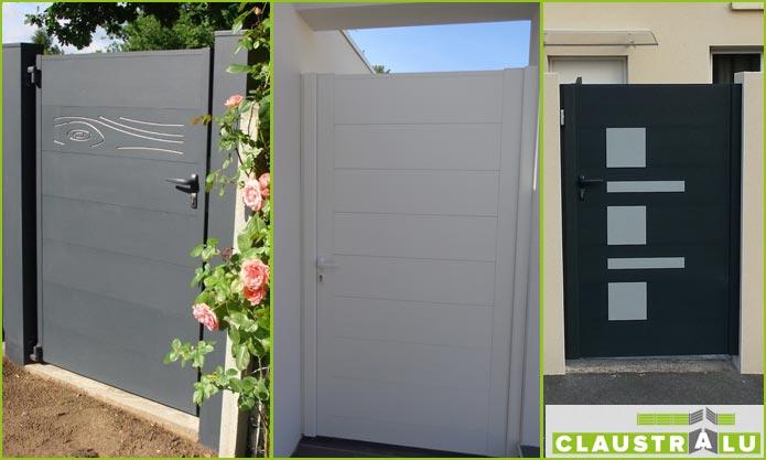 Les portillons de la gamme alu design de Claustralu
