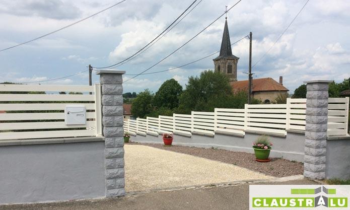 Claustra Alu Blanc esthétique en Kit