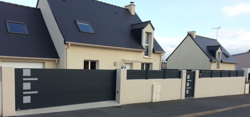 Cloture facade maison amnagement denis et fils paysagiste for Portillon maison